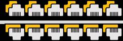 Réseaux informatique de 12 à 24 prises