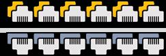 Réseaux informatique sur mesure supérieur à 24 prises
